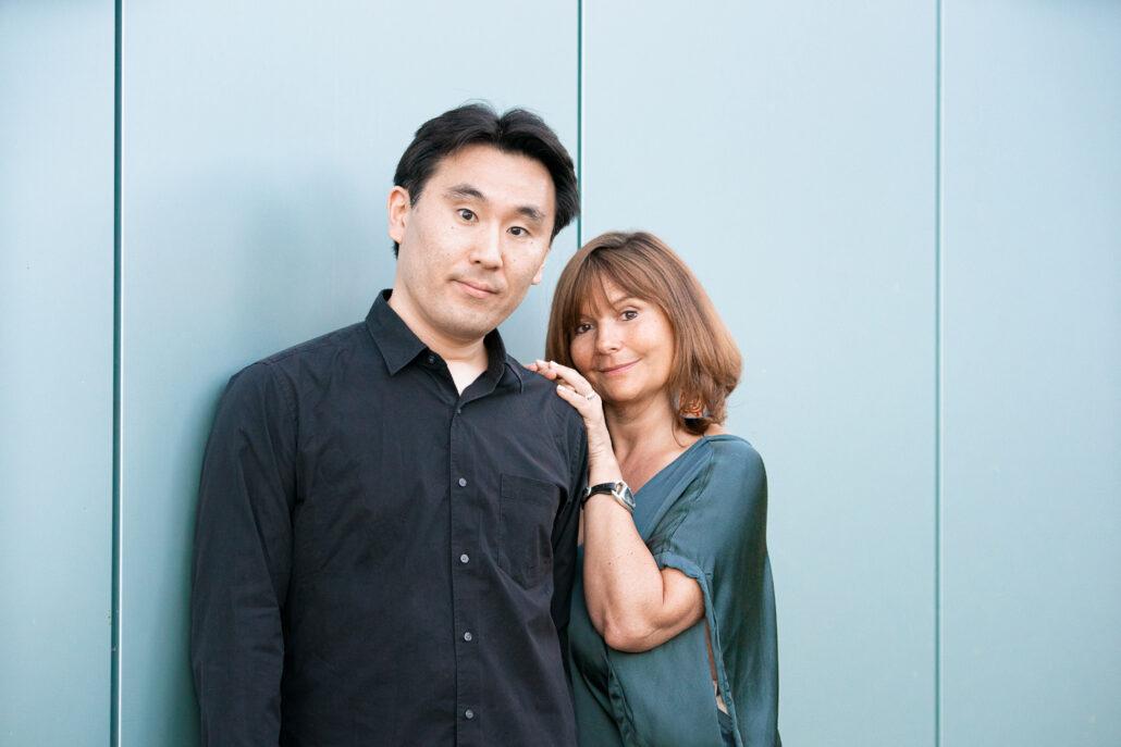 Photo du directeur musical Nobuyoshi Shima et de Artiste lyrique et pédagogue Cecile de Boever